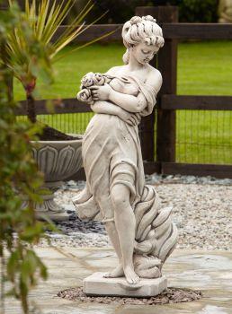 Adele Rose Stone Figurine Sculpture - Large Garden Statue