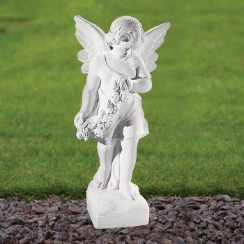 Angel Figurine 60cm Religious Statue - Marble Garden Ornament