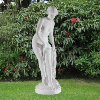Bathing Goddess 162cm Roman Garden Sculpture - Large Marble Statue