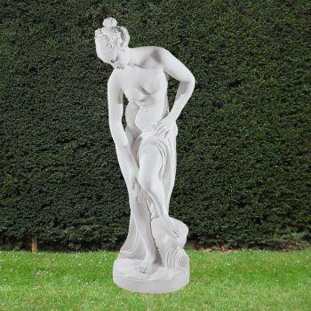 Bathing Lady 88cm Greek Garden Sculpture - Large Marble Statue