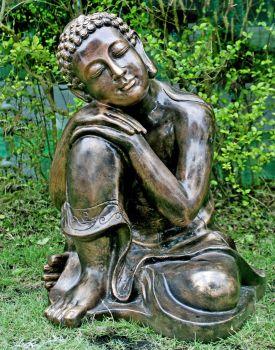 Gold Sleeping Deity Buddha Statue - Large Garden Ornaments