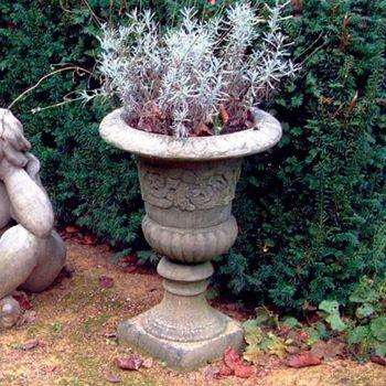 Classic Vase Stone Plant Pot - Large Garden Planter