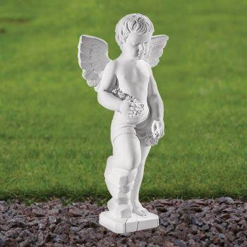 Cherub Figurine 61cm Religious Sculpture - Marble Garden Statue