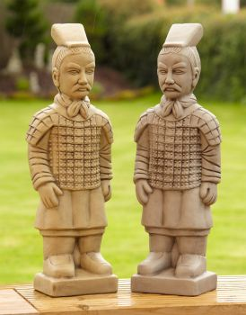Chinese Terracotta Warriors Stone Statue - Garden Ornament