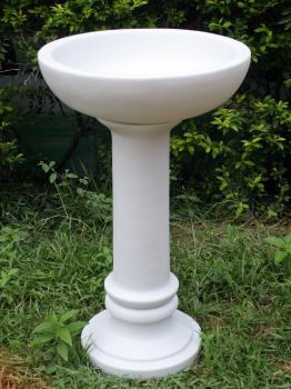Coniston Marble Resin Modern Garden Bird Bath