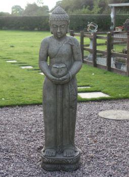 Contemplation Standing Buddha Garden Statue