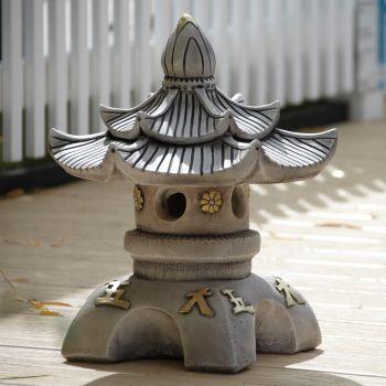 Double Top Japanese Pagoda Lantern - Chinese Garden Ornament