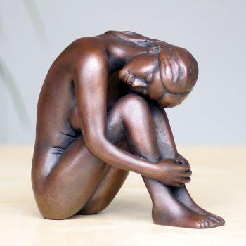 Emma Bronze Sculpture - Nude Female Modern Figurine