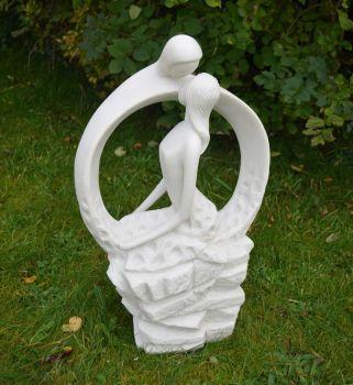 Euphoric Modern Garden Statue - Large Contemporary Sculpture
