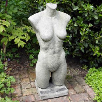 Female Torso Stone Modern Sculpture - Large Garden Statue