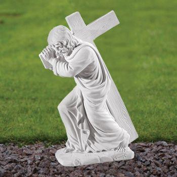 Jesus Christ 38cm Religious Statue - Marble Garden Ornament