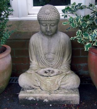 Large Garden Ornament - Meditation Stone Buddha Statue