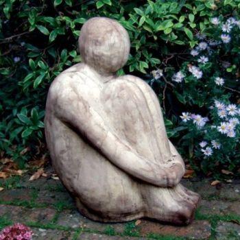 Large Harry Modern Stone Statue - Garden Sculpture