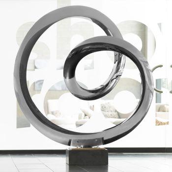 Large Orbital Metal Sculpture - Indoor Contemporary Art Statue