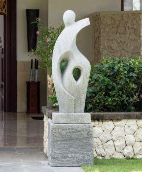 Majestic Modern Art Stone Statue - Large Garden Sculpture