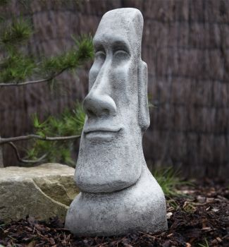 Male Head Sculpture - Large Easter Island Head Statue
