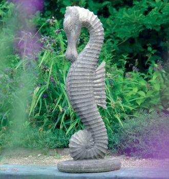 Medium Seahorse Statue Sculpture - Garden Ornament