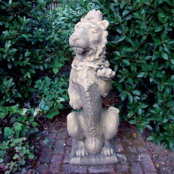 Mystical Lion Stone Sculpture - Large Garden Statue