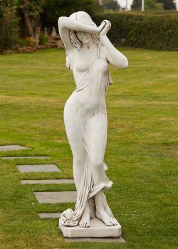 Naked Woman Figurine Stone Sculpture - Large Garden Statue