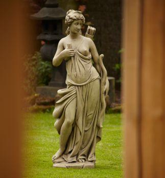 Nude Diana Stone Figurine Sculpture - Large Garden Statue