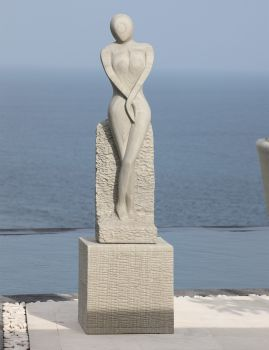 Placidity Modern Art Stone Statue - Large Garden Sculpture