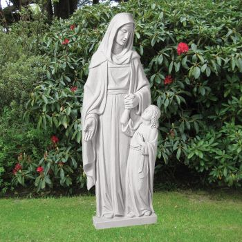 Saint Anna 110cm Religious Sculpture - Marble Garden Statue