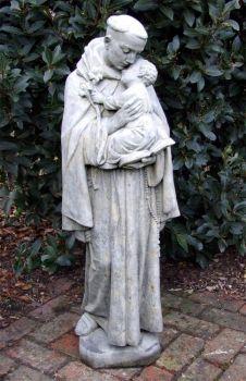Saint Anthony Stone Sculpture - Large Garden Statue
