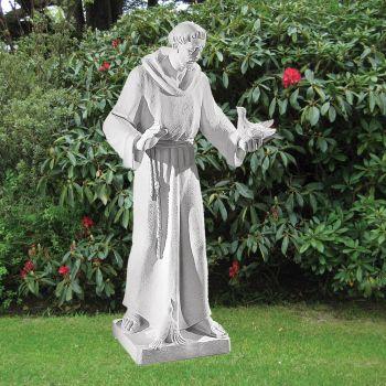 Saint Francis 84cm Religious Sculpture - Marble Garden Statue