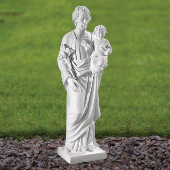 St. Joseph 60cm Religious Sculpture - Marble Garden Statue