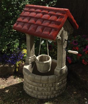 Stone Wishing Well Feature - Large Garden Ornament