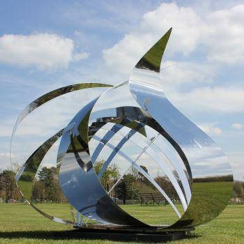 Synergy Modern Stainless Steel Art - Large Garden Sculpture