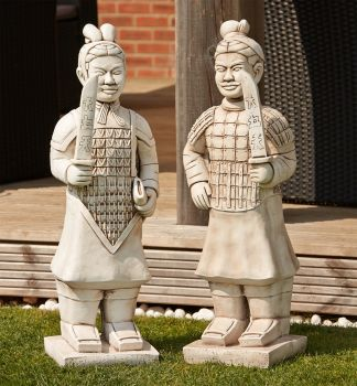 Terracotta Warriors Stone Ornament - Large Garden Statue