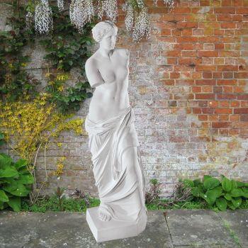 Venus de Milo 86cm Greek Garden Sculpture - Large Marble Statue