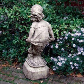 Victorian Girl Stone Sculpture - Large Garden Statue
