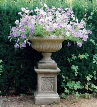 Victorian Plant Pot on Plinth - Medium Garden Planter
