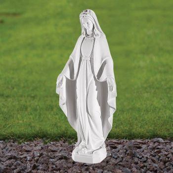 Virgin Mary 52cm Religious Sculpture - Marble Garden Statue