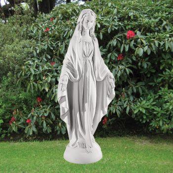 Virgin Mary 97cm Religious Sculpture - Marble Garden Statue