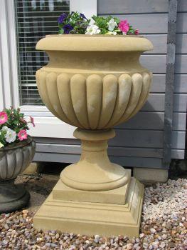 Waddeston Stone Plant Urn - Large Garden Planter