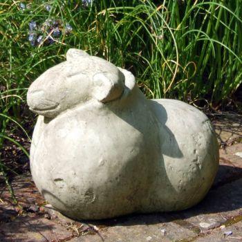 Wild Sheep Stone Animal Statue - Large Garden Ornament