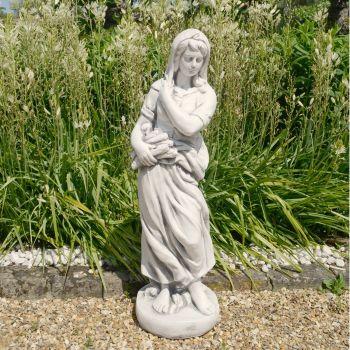 Winter Maiden 84cm Four Seasons White Stone Garden Statue