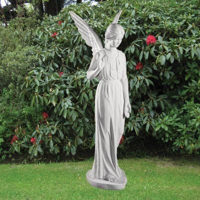 Angel Figurine 183cm Religious Sculpture - Marble Garden Statue