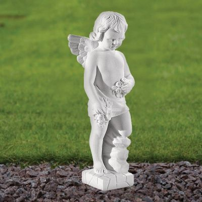 Angel Figurine 30cm Religious Statue - Marble Garden Ornament