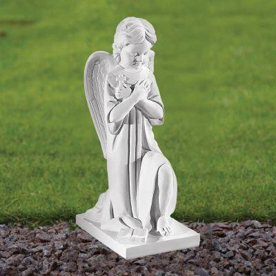 Angel Figurine 43cm Religious Statue - Marble Garden Ornament