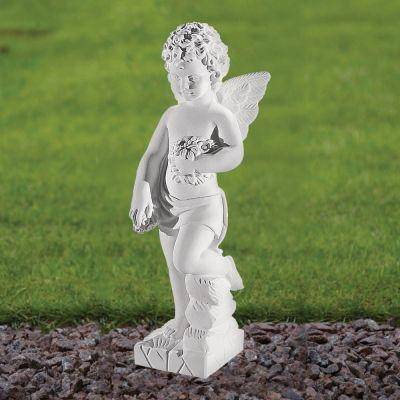 Angel Figurine 44cm Religious Statue - Marble Garden Ornament
