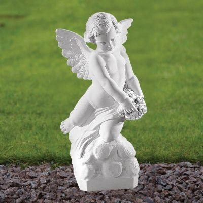 Angel Figurine 56cm Religious Statue - Marble Garden Ornament