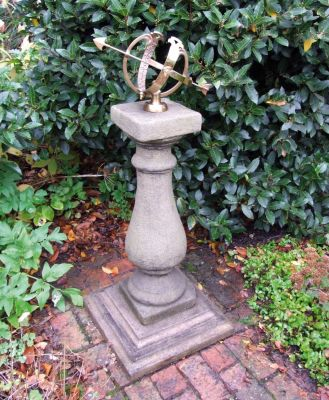 Baluster Medium Armillary Stone Sun Dial - Garden Sundial