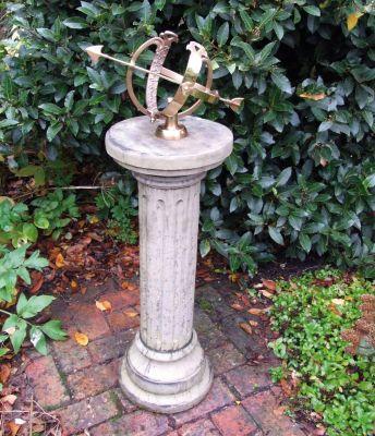 Brighton Armillary Stone Sun Dial - Garden Sundial