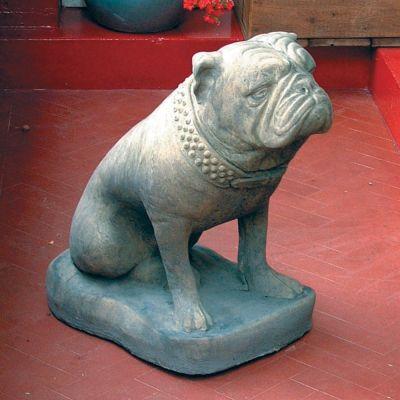 Bulldog Dog Statue Sculpture - Large Garden Ornament