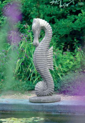 Small Seahorse Statue Sculpture - Garden Ornament