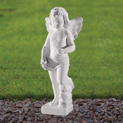 Cherub Figurine 37cm Religious Statue - Marble Garden Ornament